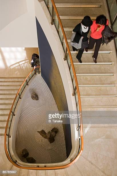 A Spiral Staircase Leads to a Zen Garden in Tokyo