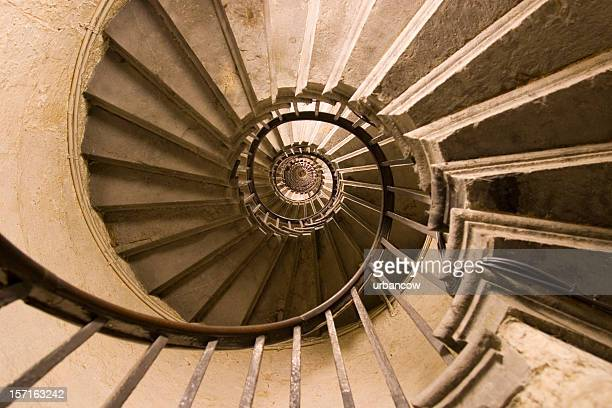 Stairwell with skylight above modern staircase - Spiral Staircase Stock Photos And Pictures Getty Images