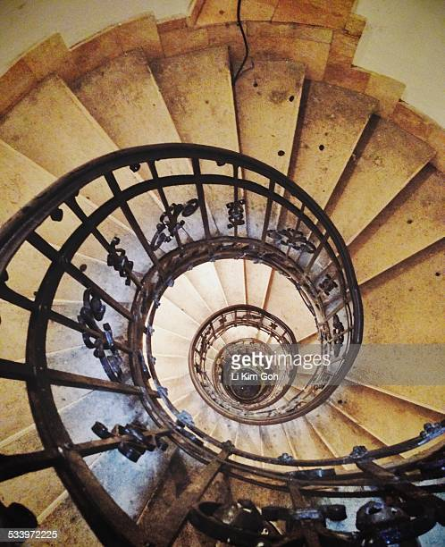 Spiral staircase to St Stephen's Basilica dome Budapest