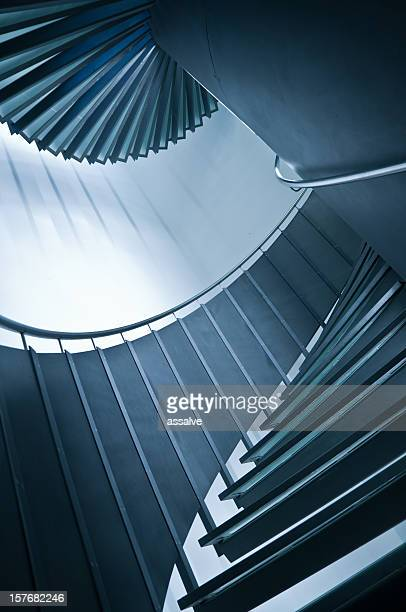 Wendeltreppe mit balustrade