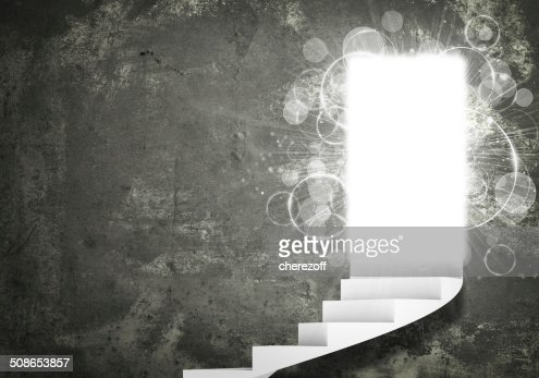 Spiral stairs and magic doors : Stock Photo