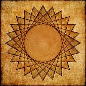 Spiral star background. Retro poster.