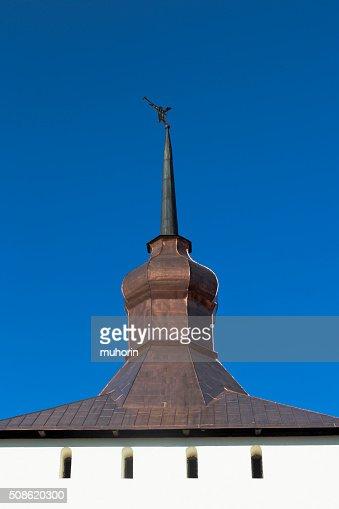 Spire Kazanskaya of the tower Kirillo-Belozersky Monastery : Stock Photo