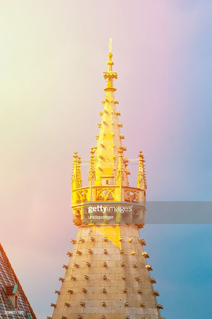 Spire of Stephan Cathedral in Vienna, Austria : Stock Photo
