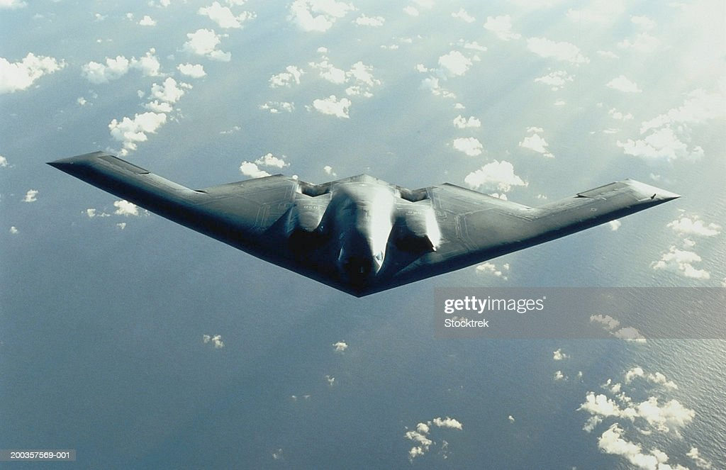 B-2 Spirit bomber in flight