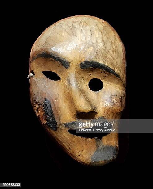 Spirit mask Used by an Alaskan Inuit Shaman this mask would have been worn during ritual dances to bring good health and hunting Made from hair...