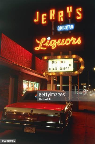 Spirits shop in New Mexico, USA