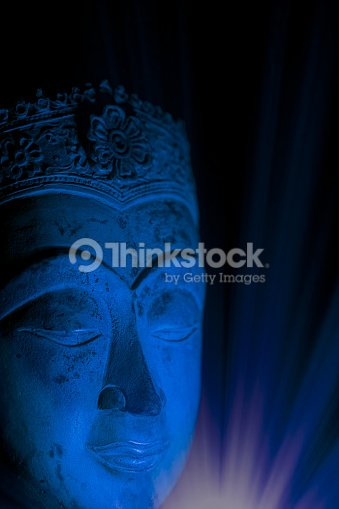 Spiritual Enlightenment Buddha Head In Mindful Meditation