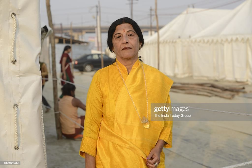 Spiritual guru Ma Sheila at Agni Akhara in Allahabad on Tuesday, January 15, 2013.