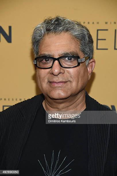 Spiritual leader Dr Deepak Chopra attends the 'Belief' New York premiere at TheTimesCenter on October 14 2015 in New York City