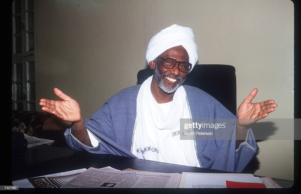 Spiritual Leader Hassan Al Turabi poses for a picture February 28, 1992 in the Sudan. He rejects the term ''fundamentalism'', preferring ''awakening'' or a comprehensive reconstruction of society from top to bottom.