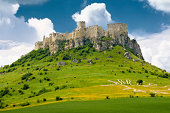 Spis Castle - Spissky hrad in East Slovakia is UNESCO site and was largest castle in Central Europe