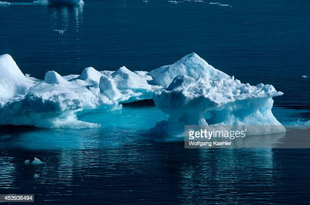 Spitsbergen Icefloes Off The Coastline