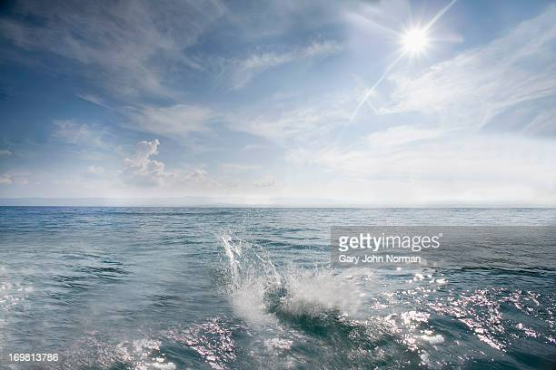 splash in open sea