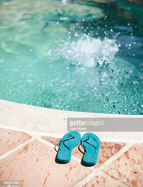 Splash in pool