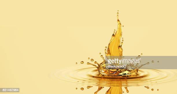 Splash Of Oil Leaf
