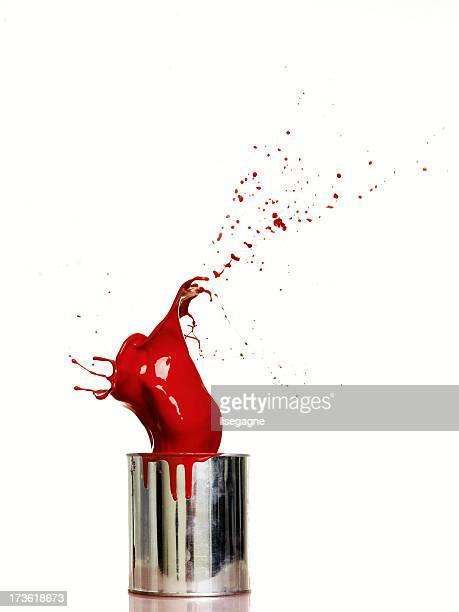 Splash of red paint