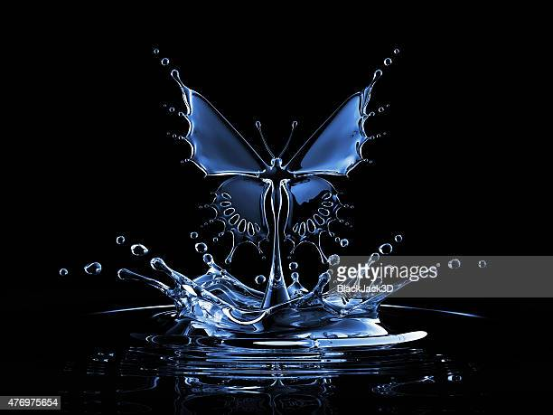 Salpicos de água borboleta