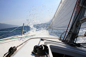 splash on sailing-yacht