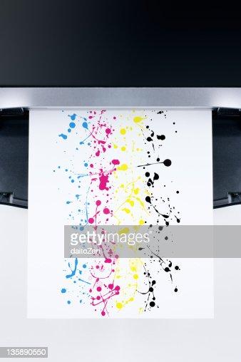 Splashes on paper