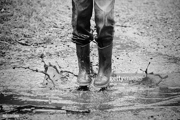 Splashing in mud