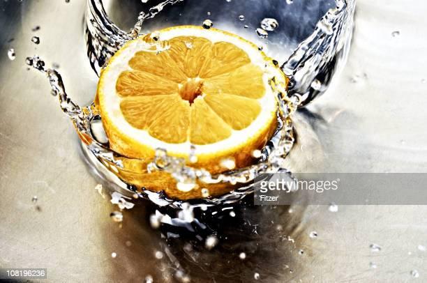 splashing lemon