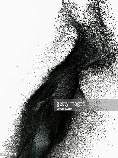 Splashing of abstract sand