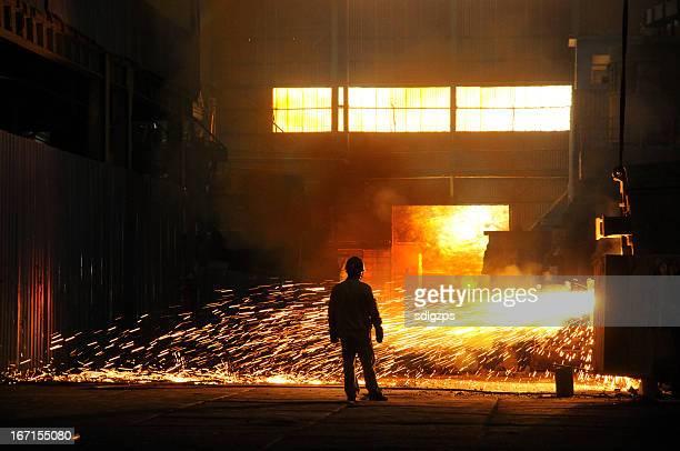 Splashing of steel