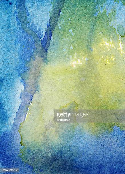 Splatters and drips of paint in a distressed background
