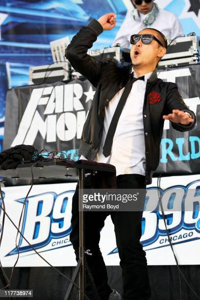 Splif of Far East Movement performs during the B96 Pepsi Summerbash at Toyota Park in Bridgeview Illinois on June 11 2011