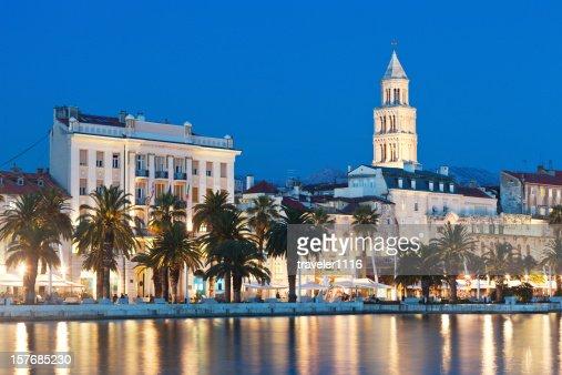 Split, Croatia At Night