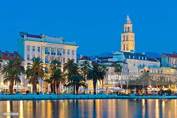 Split, Kroatien bei Nacht