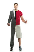 Split person: Businessman and sportsmanhttp://www.twodozendesign.info/i/1.png