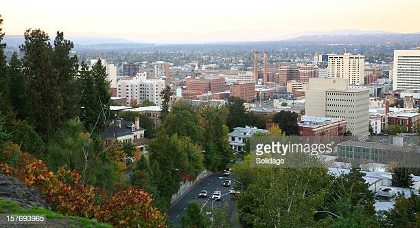 Spokane Evening Skyline In The Fall
