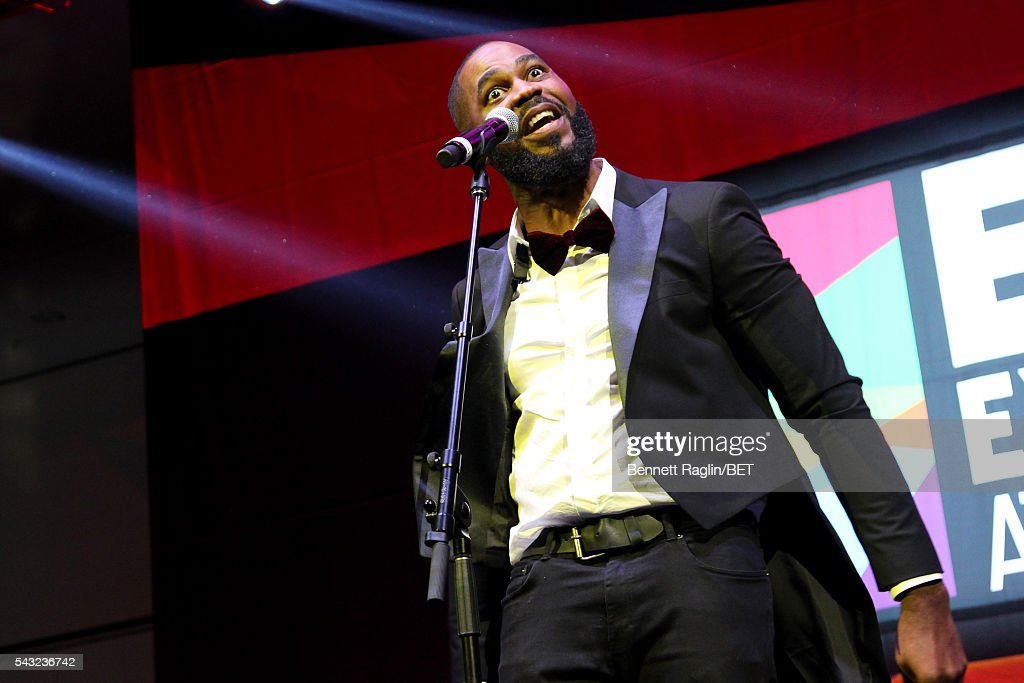 Spoken word artist Ezekiel performs on the BETX stage during the 2016 BET Experience on June 26, 2016 in Los Angeles, California.