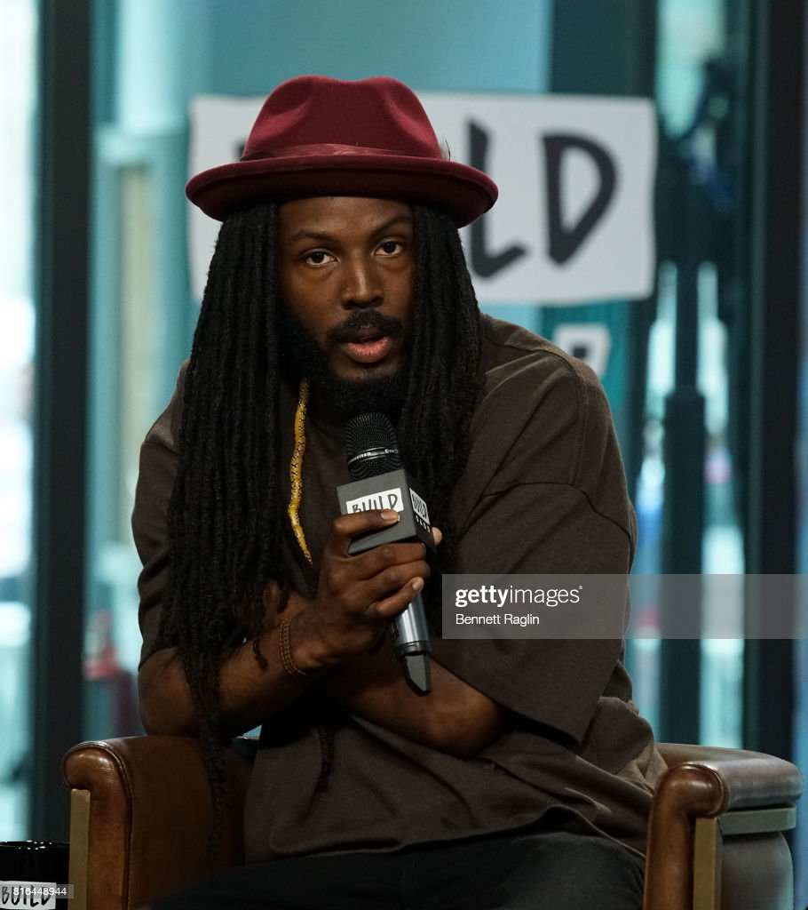 Spoken word artists Donte Clark attends Build to discuss the documentary 'Romeo Is Bleeding' at Build Studio on July 17, 2017 in New York City.