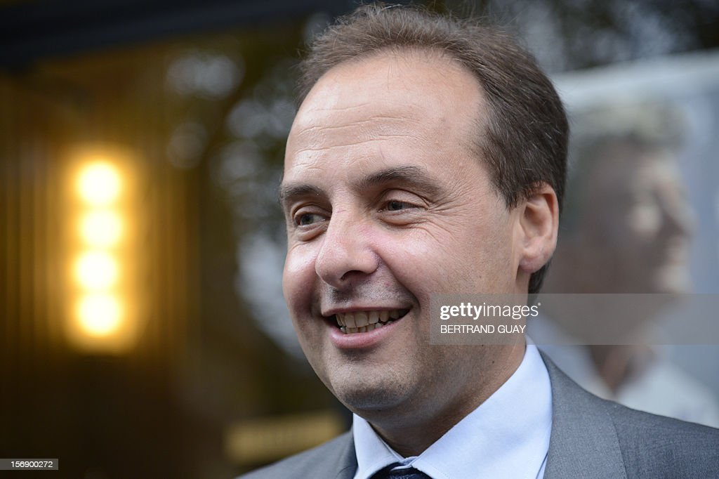 Spokesman of the Union of Democrats and Independents (UDI) party at the French national assembly, Jean-Christophe Lagarde poses upon his arrival to attend a meeting with new UDI members on November 24, 2012 at the 'Maison de la Mutualite' conference centre in Paris. France's centre-right UDI and far-right Front National (FN) recently declared registering an increasing number of new memberships since the bitterly contested leadership election of main opposition right-wing party Union for a Popular Movement (UMP).