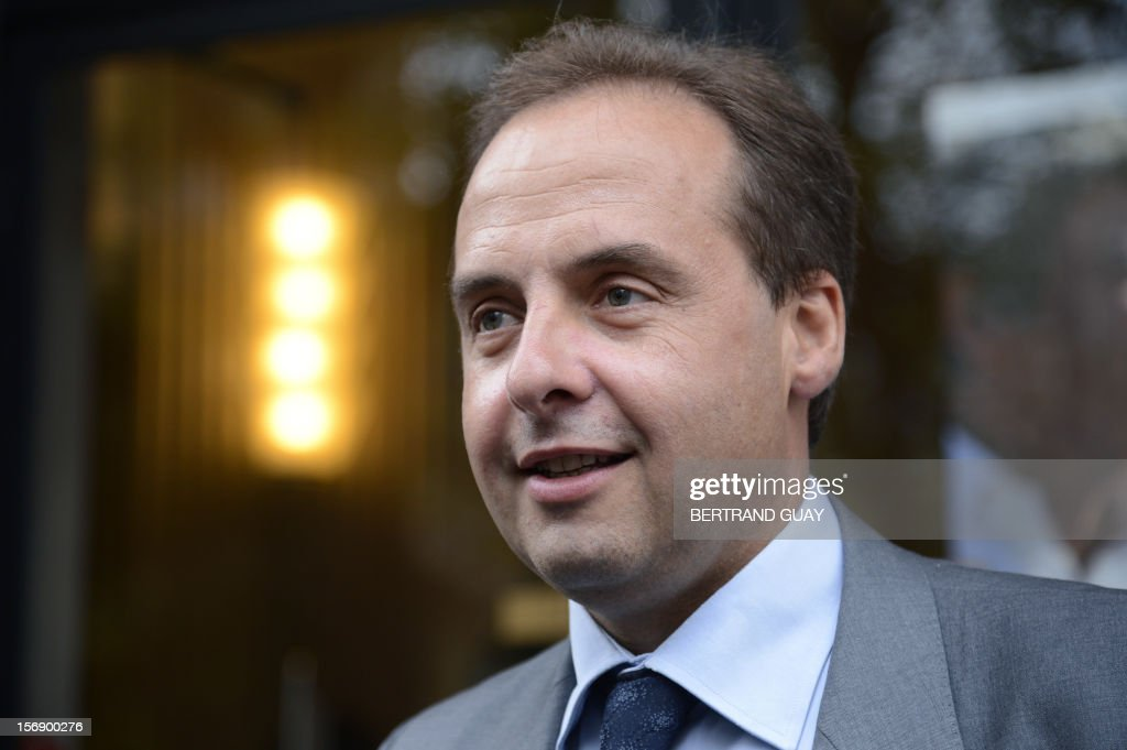 Spokesman of the Union of Democrats and Independents (UDI) party at the French national assembly, Jean-Christophe Lagarde poses upon his arrival to attend a meeting with new UDI members on November 24, 2012 at the 'Maison de la Mutualite' conference centre in Paris. France's centre-right UDI and far-right Front National (FN) recently declared registering an increasing number of new memberships since the bitterly contested leadership election of main opposition right-wing party Union for a Popular Movement (UMP). AFP PHOTO BERTRAND GUAY