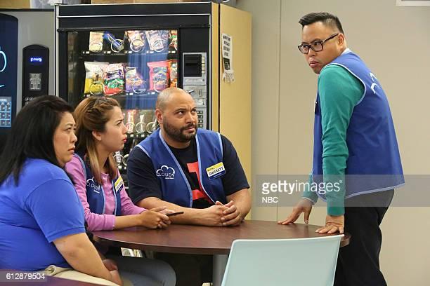 SUPERSTORE 'Spokesman Scandal' Episode 205 Pictured Kaliko Kauahi as Sandra Nichole Bloom as Cheyenne Colton Dunn as Garrett Nico Santos as Mateo