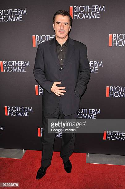 Spokesperson Chris Noth attends the Biotherm Launch Party at the Andrew Richards Designs Store on March 9 2010 in Toronto Canada