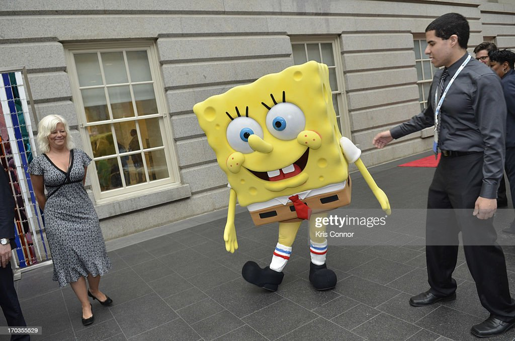 Sponge Bob Square Pants poses for a photo during a NCTA reception hosted by A+E Networks at Smithsonian American Art Museum & National Portrait Gallery on June 11, 2013 in Washington, DC.
