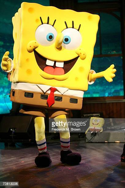 SpongeBob Square Pants performs during a segment of 'The Late Late Show with Craig Ferguson' at CBS Television City on December 12 2006 in Los...