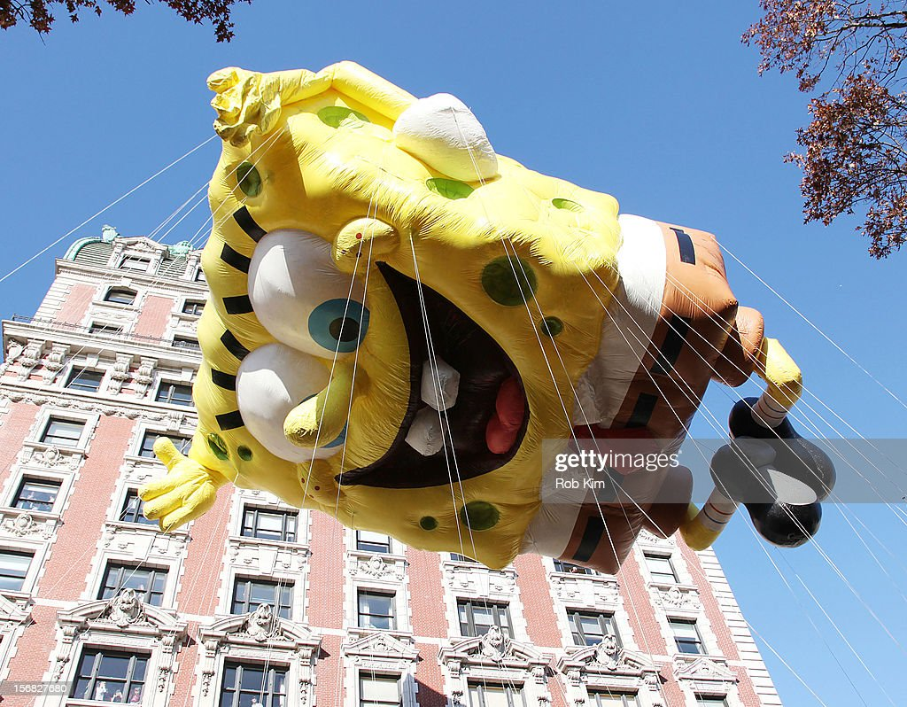 SpongeBob SquarePants attends the 86th Annual Macy's Thanksgiving Day Parade on November 22, 2012 in New York City.