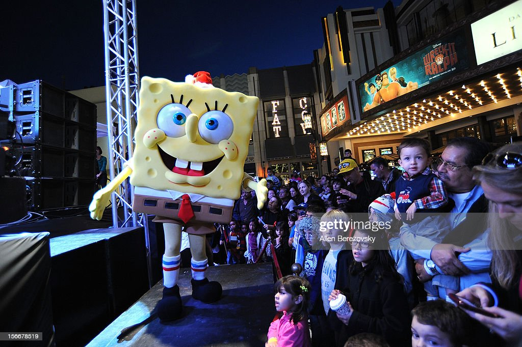 SpongeBob SquarePants attends the 'Spongebob Holiday Extravapants' very special live concert performance hosted by Nickelodeon at The Grove on November 18, 2012 in Los Angeles, California.