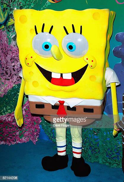 SpongeBob SquarePants attends The UK Gala Premiere of 'The SpongeBob SquarePants Movie' at Vue Leicester Square on February 6 2005 in London