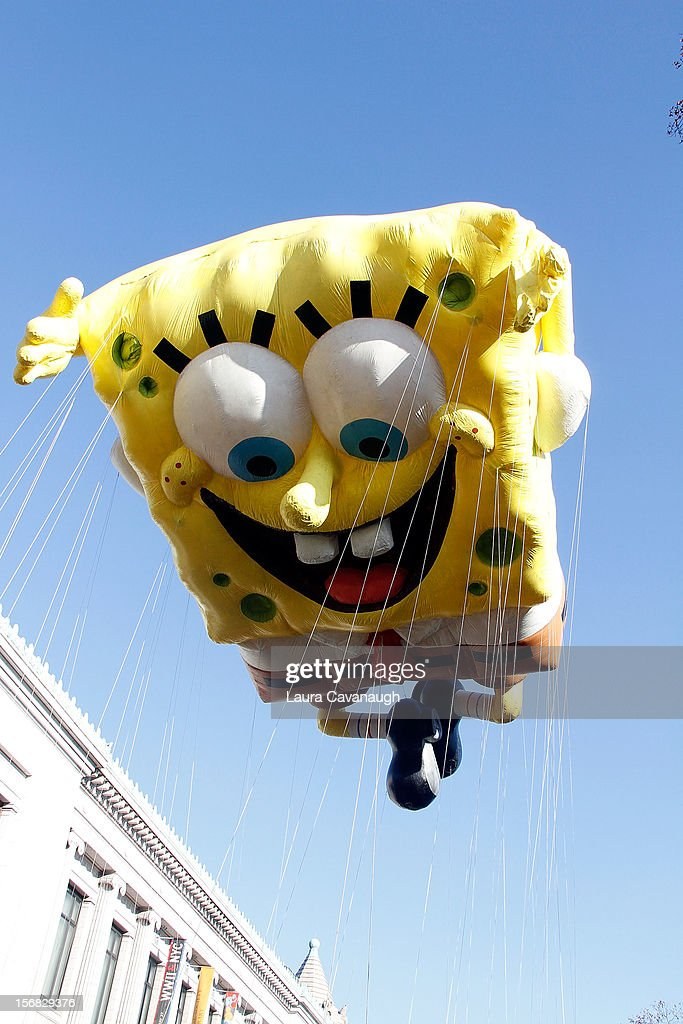 Spongebob Squarepants balloon floats at the 86th Annual Macy's Thanksgiving Day Parade on November 22, 2012 in New York City.