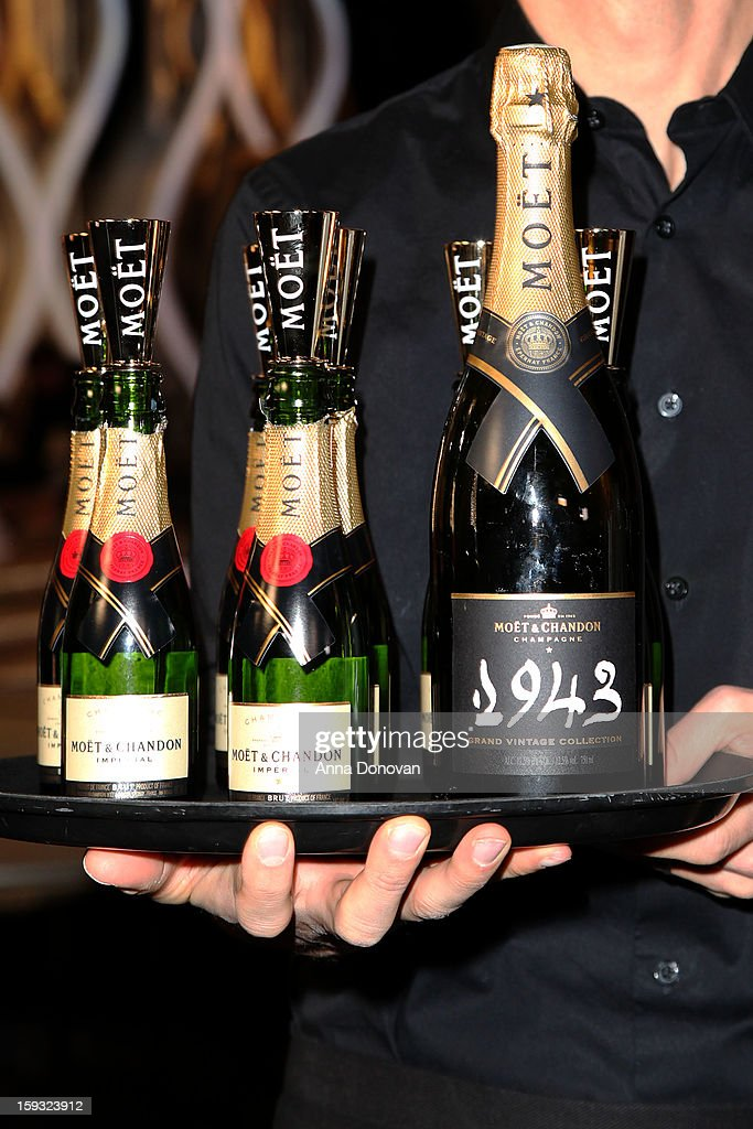 Sponsor Moet & Chandon's at the 70th Annual Golden Globe Awards preview day at The Beverly Hilton Hotel on January 11, 2013 in Beverly Hills, California.