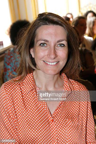 Sponsor of the event AnneClaire Coudray of TF1 attends 'La Flamme Marie Claire' 7th Edition Press Conference at the Salon FranceAmeriques on June 14...
