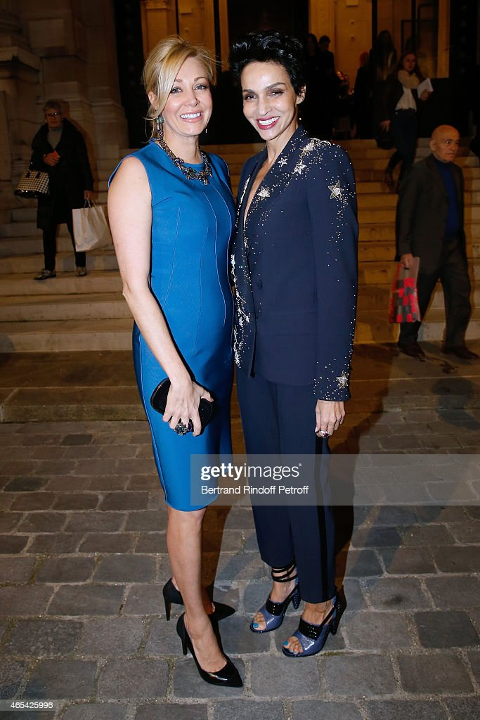 Sponsor of the Exhibition Nadja Swarovski and Farida Khelfa Seydoux attend the Jeanne Lanvin Retrospective Opening Ceremony at Palais Galliera on...