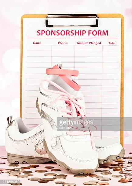 Sponsorizzato correre o camminare per la ricerca sul cancro al seno
